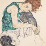 Femme assise genoux plié (1917)